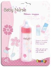 Domčeky pre bábiky sety - Set prebaľovací stôl pre bábiku Baby Nurse Srdiečko Smoby bábika v dupačkách 32 cm a magická fľaša_12