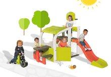 Smoby 310059-12 készlet játékcentrum Fun Center csúszdával és bébitaxi Racing Bike 2 éves kortól