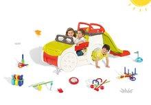 Smoby Adventure Car mászóka 150 cm hosszú csúszdával és 7 sportjáték készlet szett 2 éves kortól