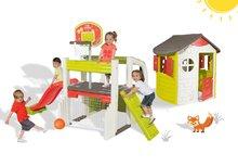 Smoby 310059-7 készlet játékcentrum Fun Center csúszdával és házikó Jura Lodge  2 éves kortól