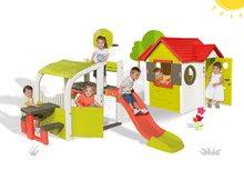 Set hracie centrum Fun Center Smoby so šmykľavkou dlhou 150 cm a domček My House od 2 rokov