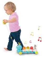 Igrače za vlečenje - Gosenica za vlečenje Caterpillar Cotoons Smoby elektronska z lučko in melodijami od 12 mes_0