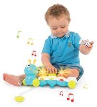 Igrače za vlečenje - Gosenica za vlečenje Caterpillar Cotoons Smoby elektronska z lučko in melodijami od 12 mes_1