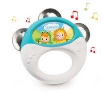Instrument muzical tamburină Cotoons Smoby pentru cei mici de la 12 luni
