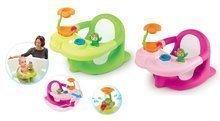 Hračky do vane - Sedátko do vody Žaba Cotoons Smoby s kvetinkou zelené/ružové od 6 mes_0