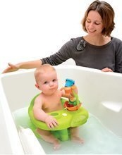 Hračky do vane - Sedátko do vody Žaba Cotoons Smoby s kvetinkou zelené/ružové od 6 mes_11