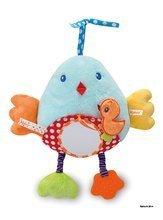 Hrkálky a hryzátka - Plyšový vtáčik Colors-My Bed Activity Panel Bird Kaloo s hryzátkom a zrkadlom 30 cm pre najmenších_1