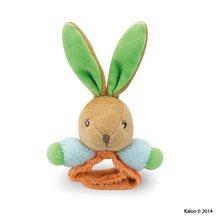 Kaloo plyšová hrkálka zajačik s náramkom Colors-Rattle Bracelets 963322-2 farebná