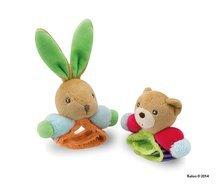 Hrkálky a hryzátka - Plyšová hrkálka zajačik Colors-Rattle Bracelets Kaloo s náramkom 12 cm pre najmenších_0