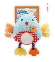 Plyšový vtáčik Colors-My Bed Activity Panel Bird Kaloo s hryzátkom a zrkadlom 30 cm pre najmenších