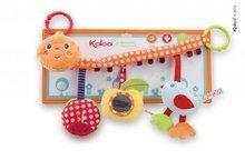 Plyšová hrazdička Colors-My Pram Caterpillar Kaloo so zrkadlom a hrkálkou 40 cm pre najmenších