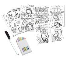 Staré položky - Obojstranná tabuľa Hello Kitty 2v1 Smoby s 18 doplnkami ružovo-modrá_1