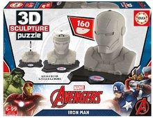 Puzzle 3D Sculpture Marvel Avengers Iron Man Educa 160 dílů od 6 let