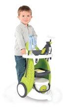 Hry na domácnosť - Set upratovací vozík Clean Service Smoby a žehliaca doska s elektronickou žehličkou Clean_1