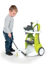 Hry na domácnosť - Set upratovací vozík Clean Service Smoby a žehliaca doska s elektronickou žehličkou Clean_2