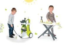 SMOBY 24086-1 detský upratovací vozík Clean Service a 9 doplnkov+žehliaca doska s elektronickou žehličkou Tefal