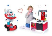 SMOBY 24422-2 orvosi kocsi infúzióval és 7 kiegészítővel+elektronikus játékkonyha Cheftronic Tefal hangokkal és fényekkel + 21 kiegészítő