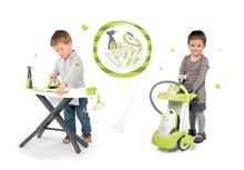 Hry na domácnost - Set úklidový vozík Rowenta Smoby s elektronickým vysavačem, žehlicí prkno, elektronická žehlička Clean_14
