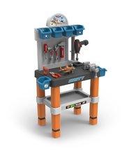 Pracovná detská dielňa - Pracovný stôl Lietadlá Smoby s lietadlom Dusty, mechanickou vŕtačkou a 80 doplnkami_2