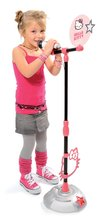 Staré položky - Mikrofon se stojánkem Hello Kitty Smoby světle růžový na baterky_2