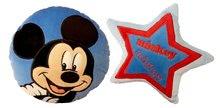 Sada plyšových polštářů Mickey okrouhlý a hvězda modré 24 cm