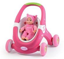 Detské chodítko a kočiarik pre bábiku 2v1 MiniKiss Smoby s brzdou od 12 mesiacov