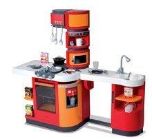 Elektronické kuchynky - Kuchynka CookMaster Smoby elektronická so zvukmi a 33 doplnkami červeno-oranžová_3