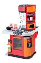 Elektronické kuchynky - Kuchynka CookMaster Smoby elektronická so zvukmi a 33 doplnkami červeno-oranžová_4