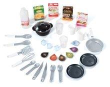Elektronické kuchynky - Kuchynka CookMaster Smoby elektronická so zvukmi a 33 doplnkami červeno-oranžová_5