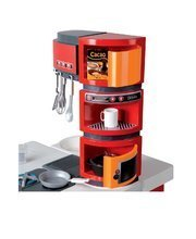 Elektronické kuchynky - Kuchynka CookMaster Smoby elektronická so zvukmi a 33 doplnkami červeno-oranžová_6