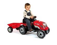 Detské šliapacie vozidlá - SMOBY 33045 Traktor GM BULL červený s pr