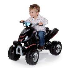 SMOBY 33050  Négykerekű X Power Black elektromos, villannyal felszerelt, fekete krómozott, 96*50*63 cm