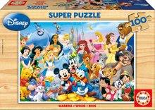 EDUCA 12002 PUZZLE Drevené - Disney svet  100 dielov 36*26 cm
