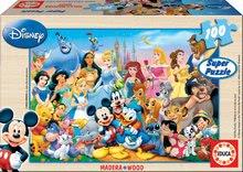 Fából készült Disney - Fa puzzle Disney világ Educa 100 db 5 évtől_0