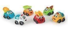SMOBY 120302 Vroom Planet pracovné autíčko požiarnik, miešačka, odťahovka, žlté pracovné auto, nákladné auto, sanitka 7 cm na