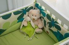 Gnezdo za posteljico Sateen Rabbits toT's-smarTrike zajček 100% bombaž saten polnilo iz 100 % poliestra zeleno