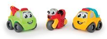 SMOBY 120201-2 Vroom Planet autíčka 3 kusy v darčekovom balení  motorkársky set  7 cm od 12 mesiacov