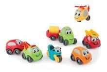 Sada dětských autíček, motocyklu a vrtulníku Vroom Planet Smoby délka 7 cm od 12 měsíců 7 kusů