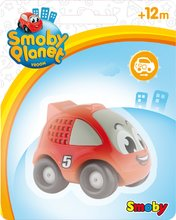Autíčka - Pretekárske autíčko Vroom Planet Smoby naťahovacie dĺžka 8 cm červené/žlté od 12 mes_2