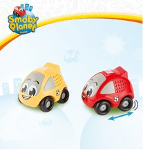 Autíčka - Pretekárske autíčko Vroom Planet Smoby naťahovacie dĺžka 8 cm červené/žlté od 12 mes_5