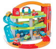 Garaže - Garaža na dva kata Vroom Planet Grand Smoby s 1 autićem i boksom za odlaganje od 18 mjeseci_6
