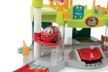 Autodráhy - Set autodráha Mega Jump Vroom Planet Smoby skákajúca a poschodová garáž s autoumyvárňou od 18 mes_8