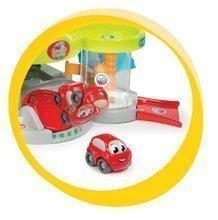 Autodráhy - Set autodráha Mega Jump Vroom Planet Smoby skákajúca a poschodová garáž s autoumyvárňou od 18 mes_5