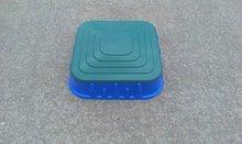 Pískoviště pro děti Starplast čtvercové s krytem objem 60 litrů od 2 let modro-tmavě zelené