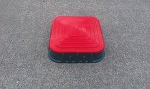 Dětské pískoviště Starplast čtvercové s krytem objem 60 litrů od 2 let zeleno-červené