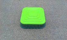Pieskoviská pre deti - Pieskovisko Starplast štvorcové s krytom objem 60 litrov zelené od 24 mes_0