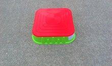 Pieskoviská pre deti - Pieskovisko Starplast štvorcové s krytom objem 60 litrov zeleno-červené od 24 mes_0