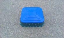 Pískoviště pro děti Starplast čtvercové s krytem objem 60 litrů od 2 let zeleno-modré
