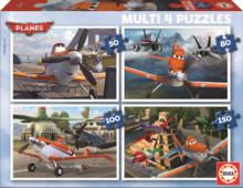 Detské puzzle Lietadlá Educa 150-100-80-50 dielov od 5 rokov