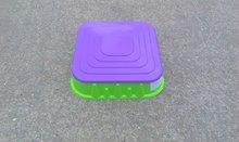 Pieskoviská pre deti - Pieskovisko Starplast štvorcové s krytom objem 60 litrov zeleno-fialové od 24 mes_0